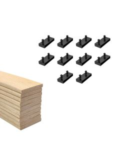 63mm Sprung Bed Slats Assembly Set for Metal Beds Single Row (2ft6 or 3ft)
