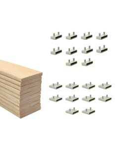 53mm Sprung Bed Slats Assembly Set for Metal Beds Double Row (4ft6,5ft or 6ft)
