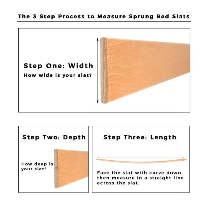 Diy Bathroom Shelf Ideas, Extra Thick 63mm Beech Sprung Bed Slats 1400mm Long Uk Stock