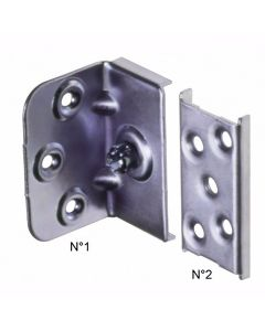 Bed Connecting Brackets – Plate System- Zinc Plated – 65mm
