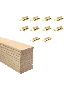 38mm Sprung Bed Slats Assembly Set for Wooden Beds Double Row (4ft6, 5ft or 6ft)