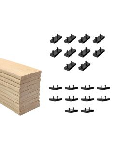 63mm Sprung Bed Slats Assembly Set for Metal Beds Double Row (4ft6,5ft or 6ft)